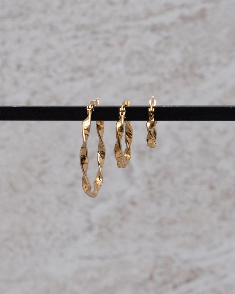 Wave hoop 30MM Gold