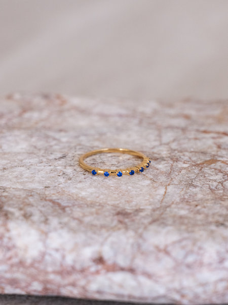 All The Luck In The World Cherie Dots Ring Blue