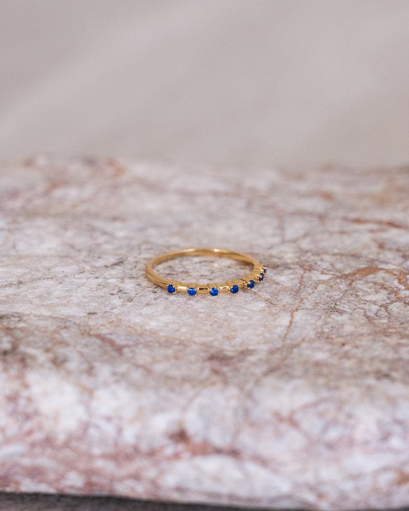 Cherie Dots Ring Blue