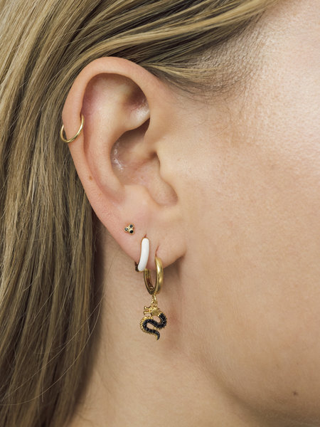 All The Luck In The World East Earring Big Dragon Gold