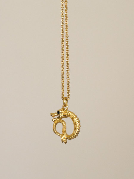 All The Luck In The World East Necklace Small Dragon Gold