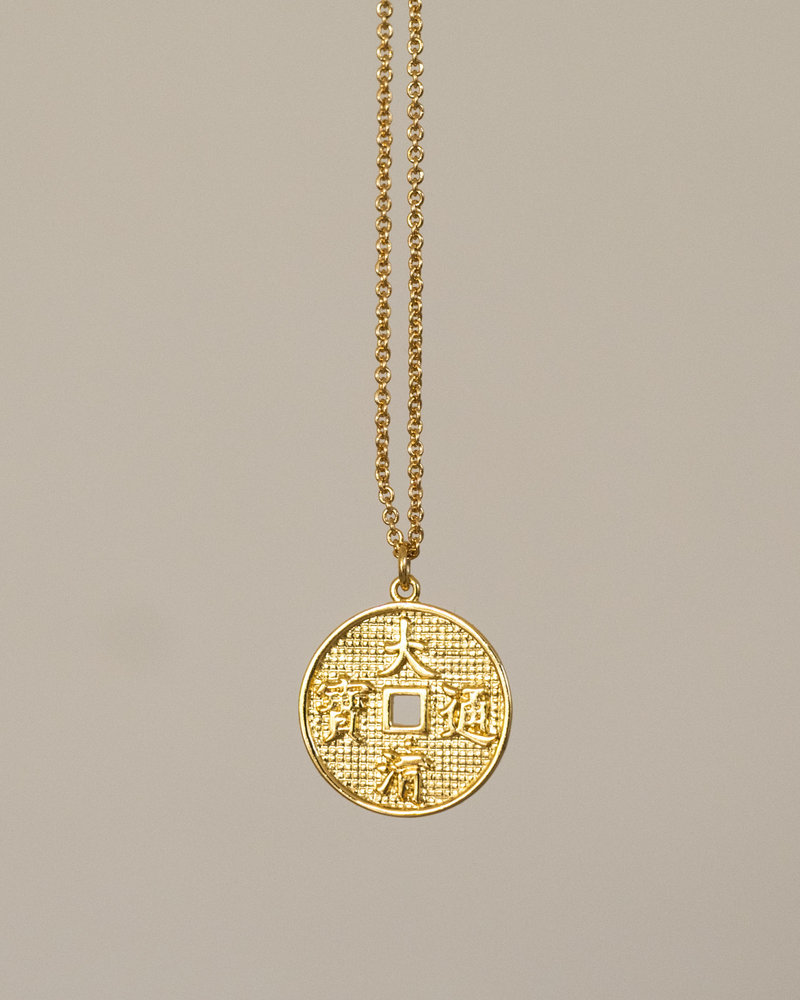 East Necklace Lucky Coin Gold