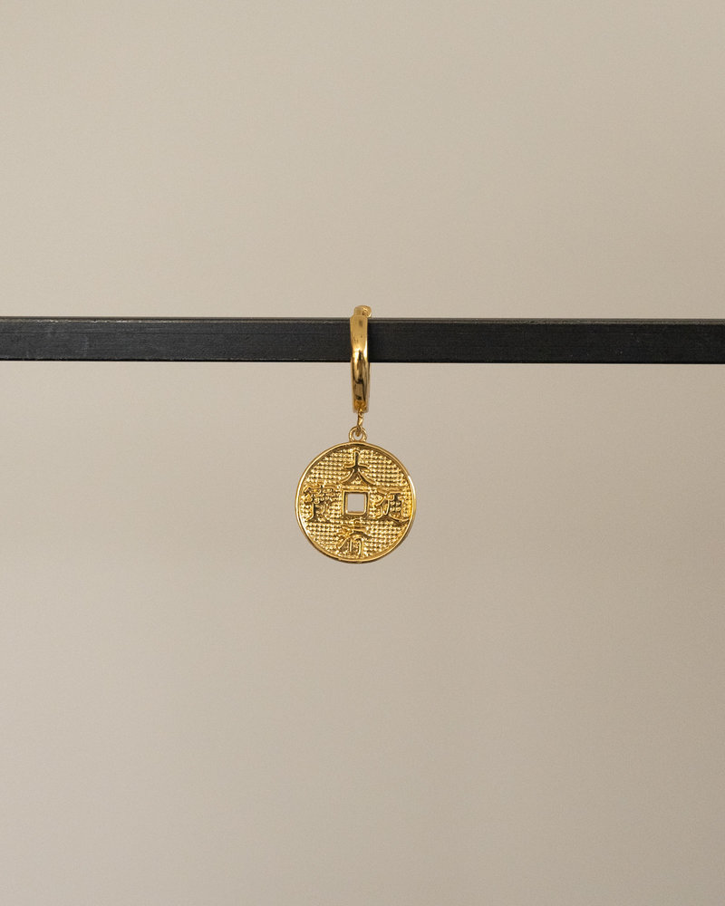 East Earring Lucky Coin Gold