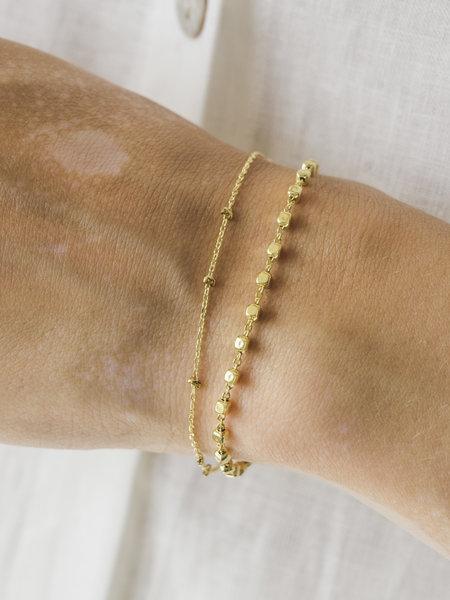 Ess Yello Gold Cube Chain Bracelet