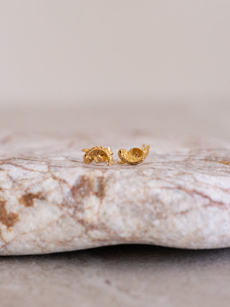 All The Luck In The World Parade Earring Koi Carp Gold