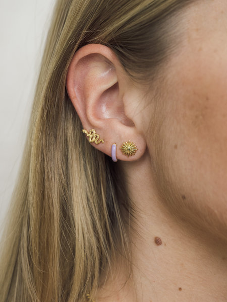 All The Luck In The World Parade Earring Snake Gold