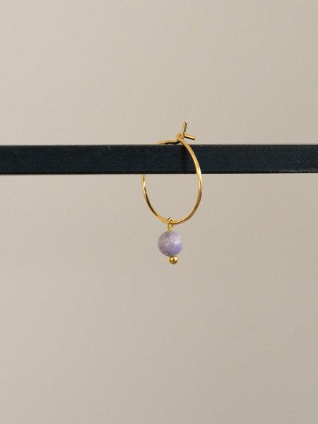 Ess Yello Mini Hoop Lilac Bead