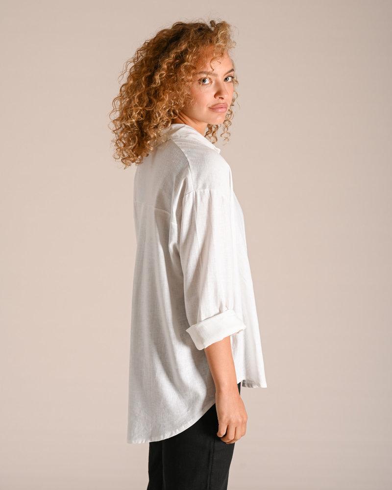 TILTIL Nora Linen Blouse White