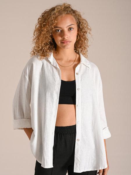 Things I Like Things I Love TILTIL Nora Linen Blouse White