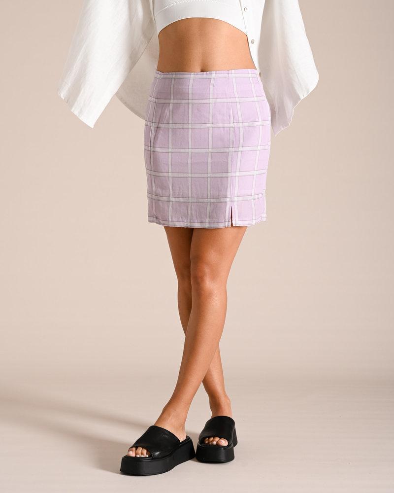 Skirt Checked Lila