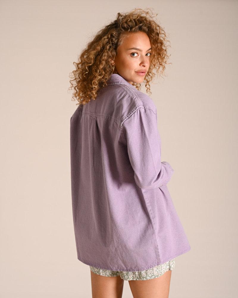 Beata Long Denim Shirt Orchid Bloom