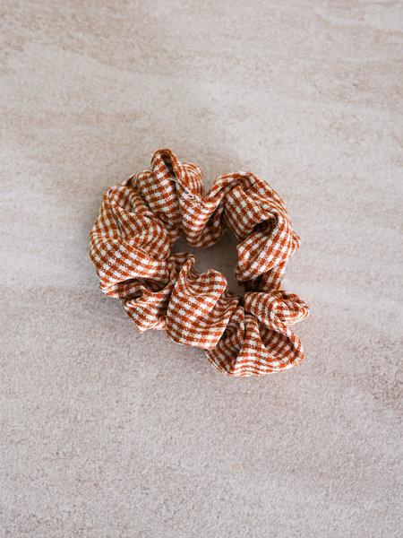 Scrunchie Checker Brown