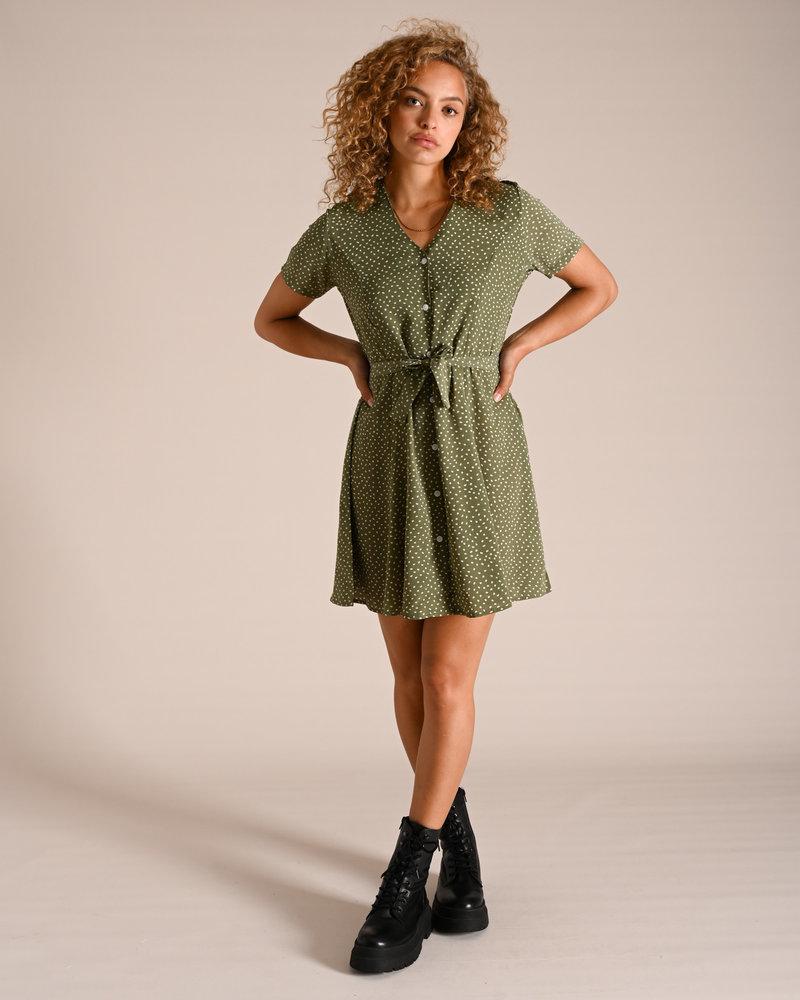 TILTIL Dora Dotted Dress Olive