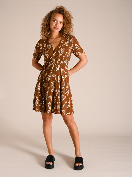 Things I Like Things I Love TILTIL Bisous Dress Brown flower