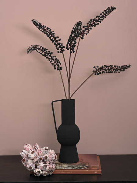 Faux Flowers Phytolacca Black