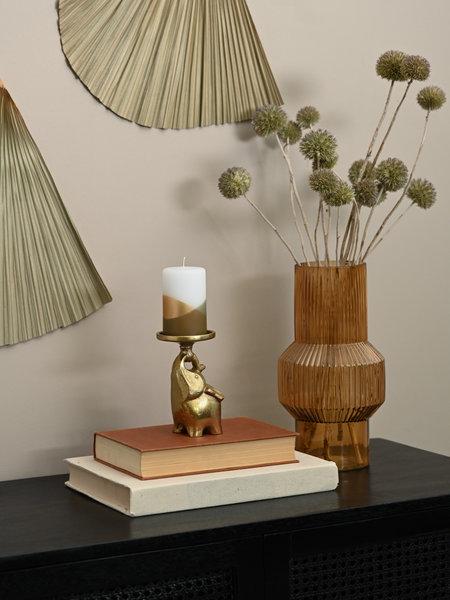 Candle Holder Elephant Gold