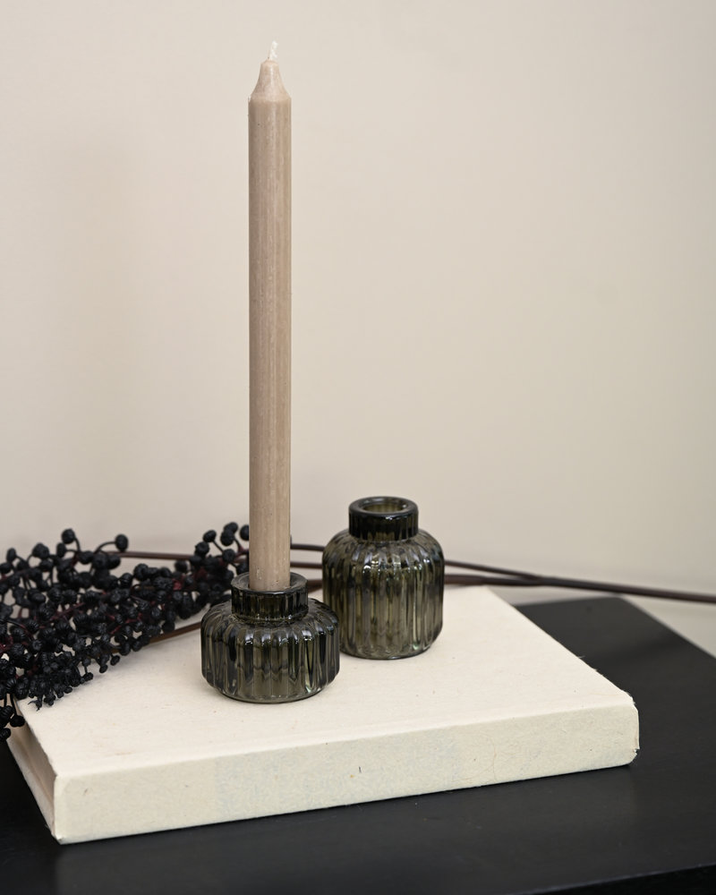Double Sided Candle Holder Lexy Dark Green