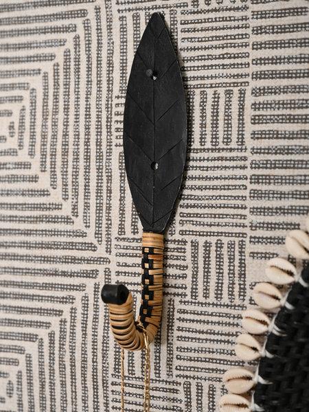 Madam Stoltz Hand Forged Bamboo Hook Black