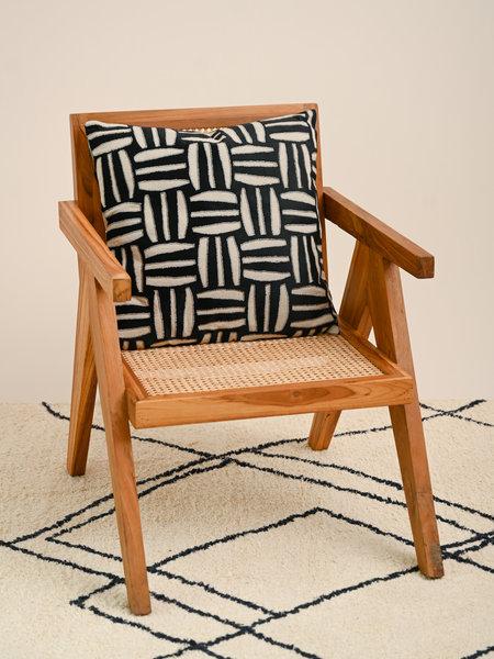 Cushion Print Beige/Black