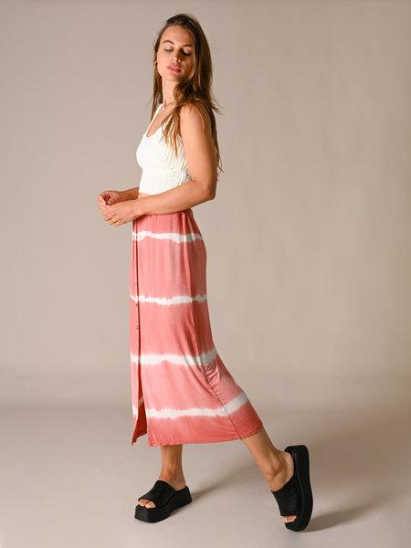 Things I Like Things I Love TILTIL Joan Batik Skirt Midi Coral