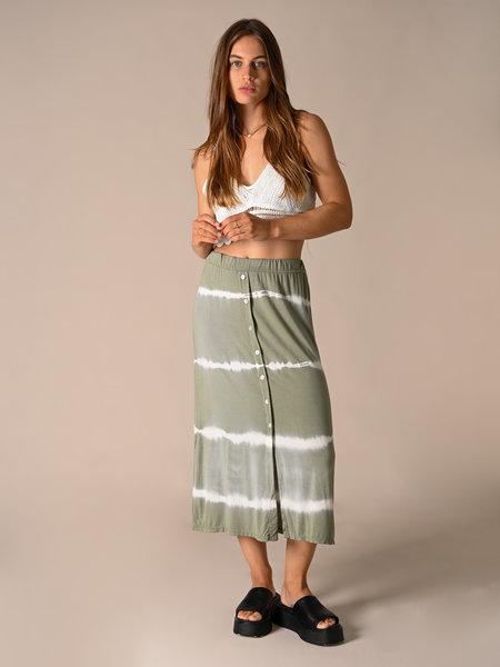 Things I Like Things I Love TILTIL joan batik skirt midi green