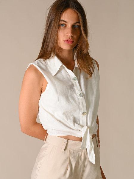 Things I Like Things I Love TILTIL Nikki Linen Blouse White