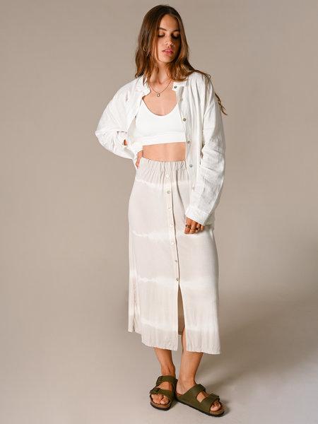 Things I Like Things I Love TILTIL Joan Batik Skirt Midi Grey