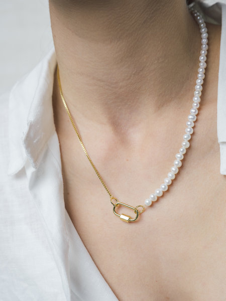 Baixa Mya Pearl Necklace Gold