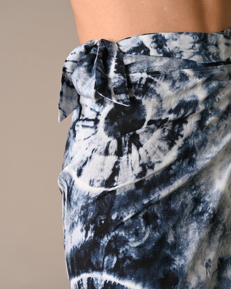 TILTIL Nene Batik Wrap Skirt Blue