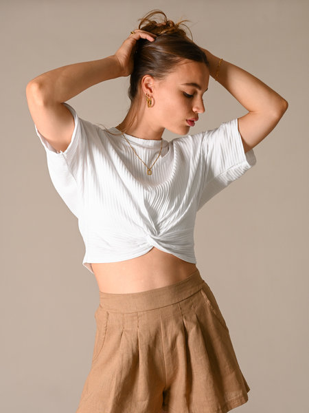 Things I Like Things I Love TILTIL Lina Knot Top White