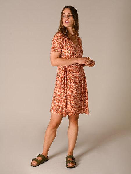 Things I Like Things I Love TILTIL Fabienne Orange Print Dress