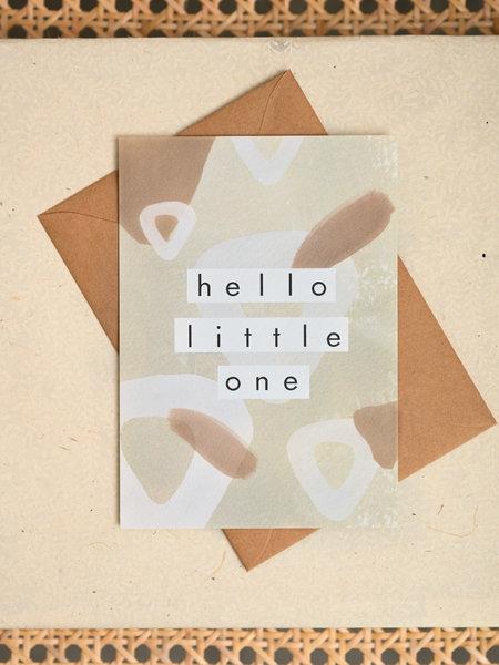 Things I Like Things I Love TILTIL Hello Little One Postcard