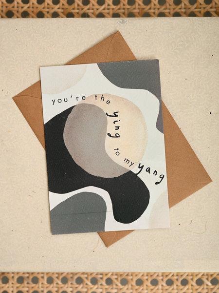 Things I Like Things I Love TILTIL Ying Yang Postcard