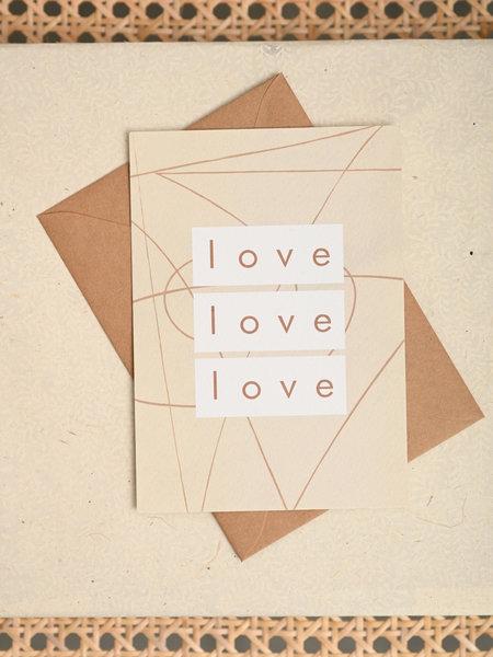Things I Like Things I Love TILTIL Love Love Love Postcard