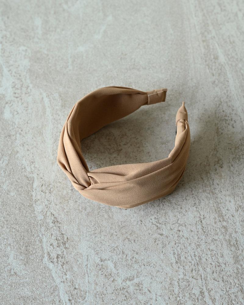 BK Oslo Solid Matt Headband Beige
