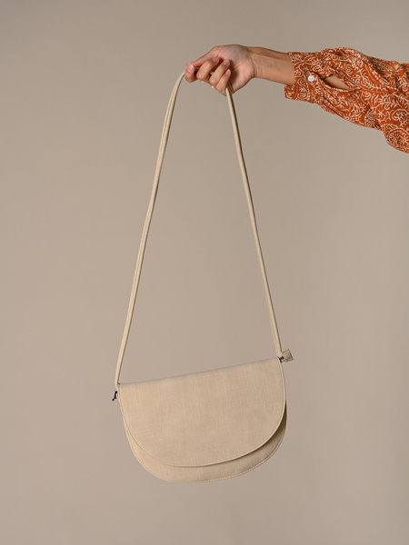 Monk & Anna Soma Half Moon Bag Sea Shell