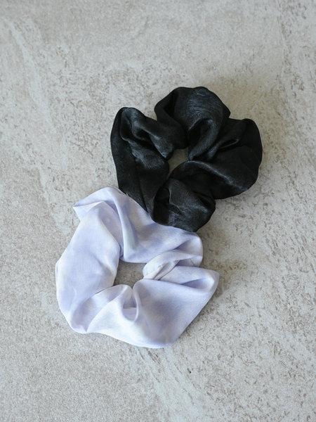 Yehwang Scrunchie Set Lilac Tie Dye Black
