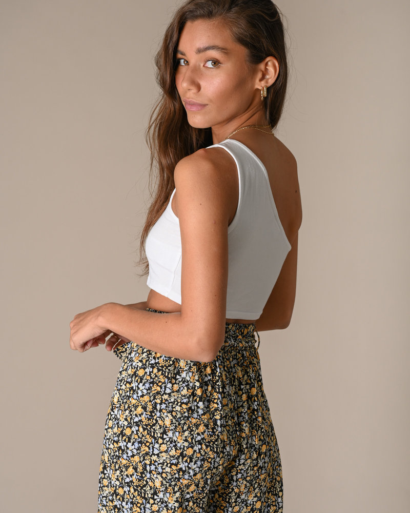 Kerry One Shoulder Cropped Top Bright White