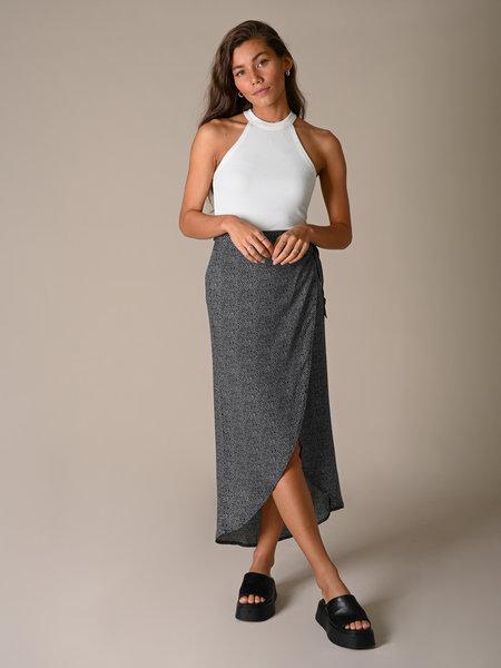 Things I Like Things I Love TILTIL Nene Skirt Black White Print