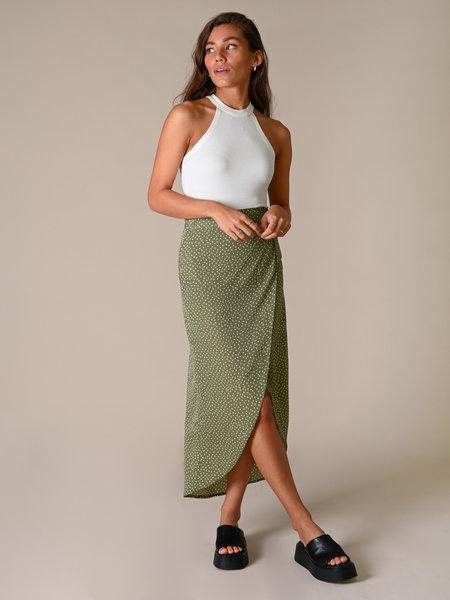 Things I Like Things I Love TILTIL Nene Skirt Olive Dot