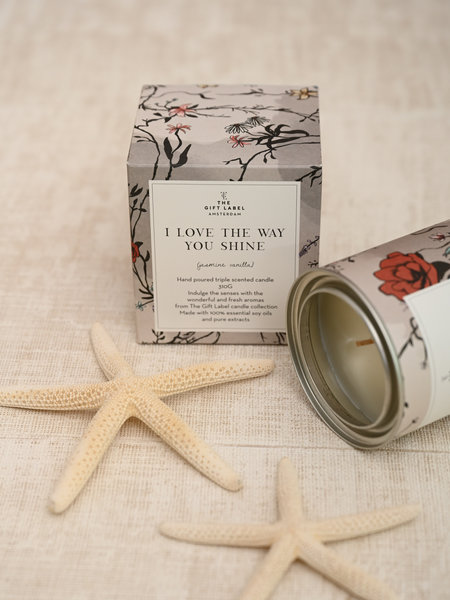 The Giftlabel Scented Candle I Love The Way You Shine Jasmin Vanilla