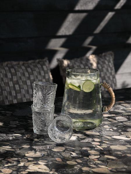Hobstar Tumbler Glass