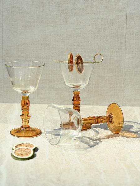 Libbey Tiki Wine Glass