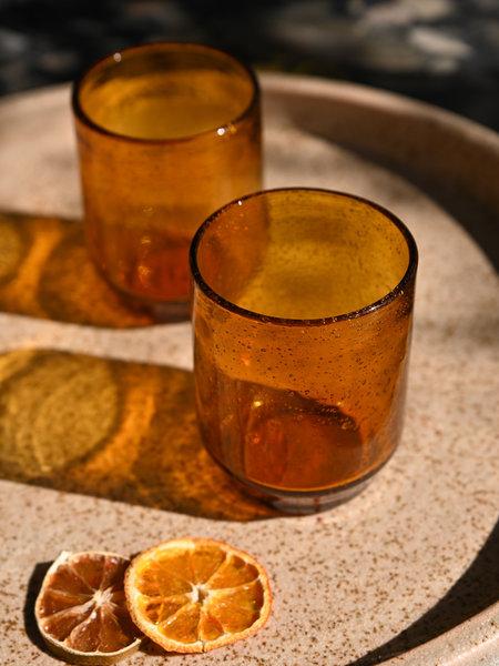 Drip Glass Amber
