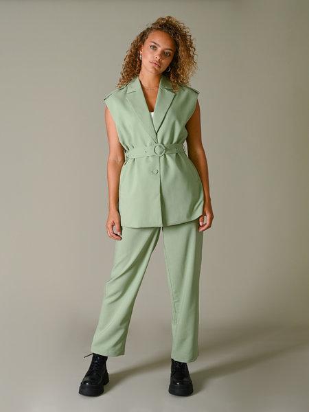 YAS Siff Cropped Pants Malachite Green