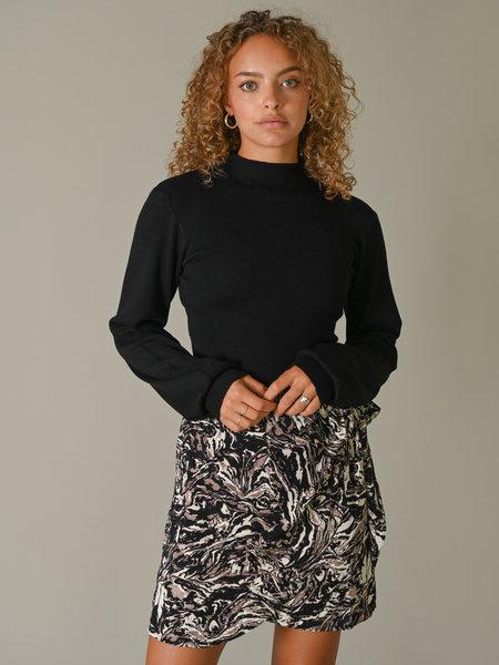 NAKD High Neck Knitted Polo Black