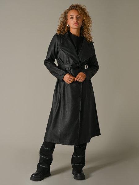 Things I Like Things I Love Jun PU Black Trenchcoat