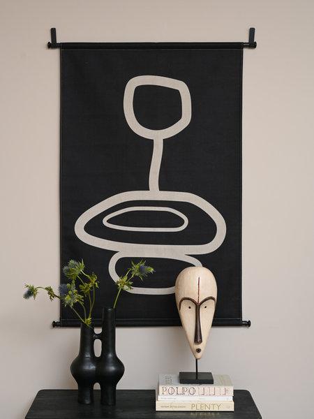 Wall Hanging Organic Shapes Black