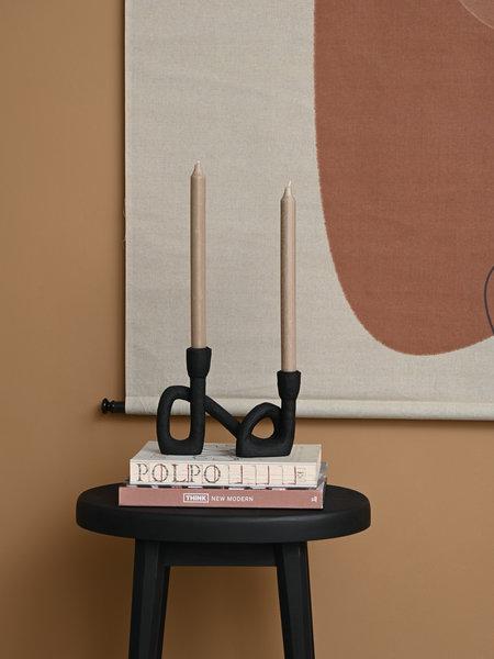 Mashel Candle Holder Black