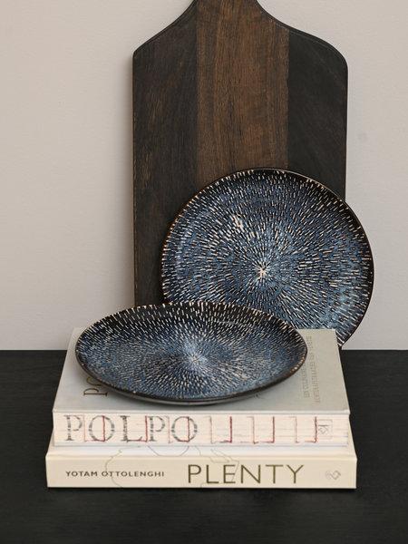 Breakfast Plate Reactive Blue